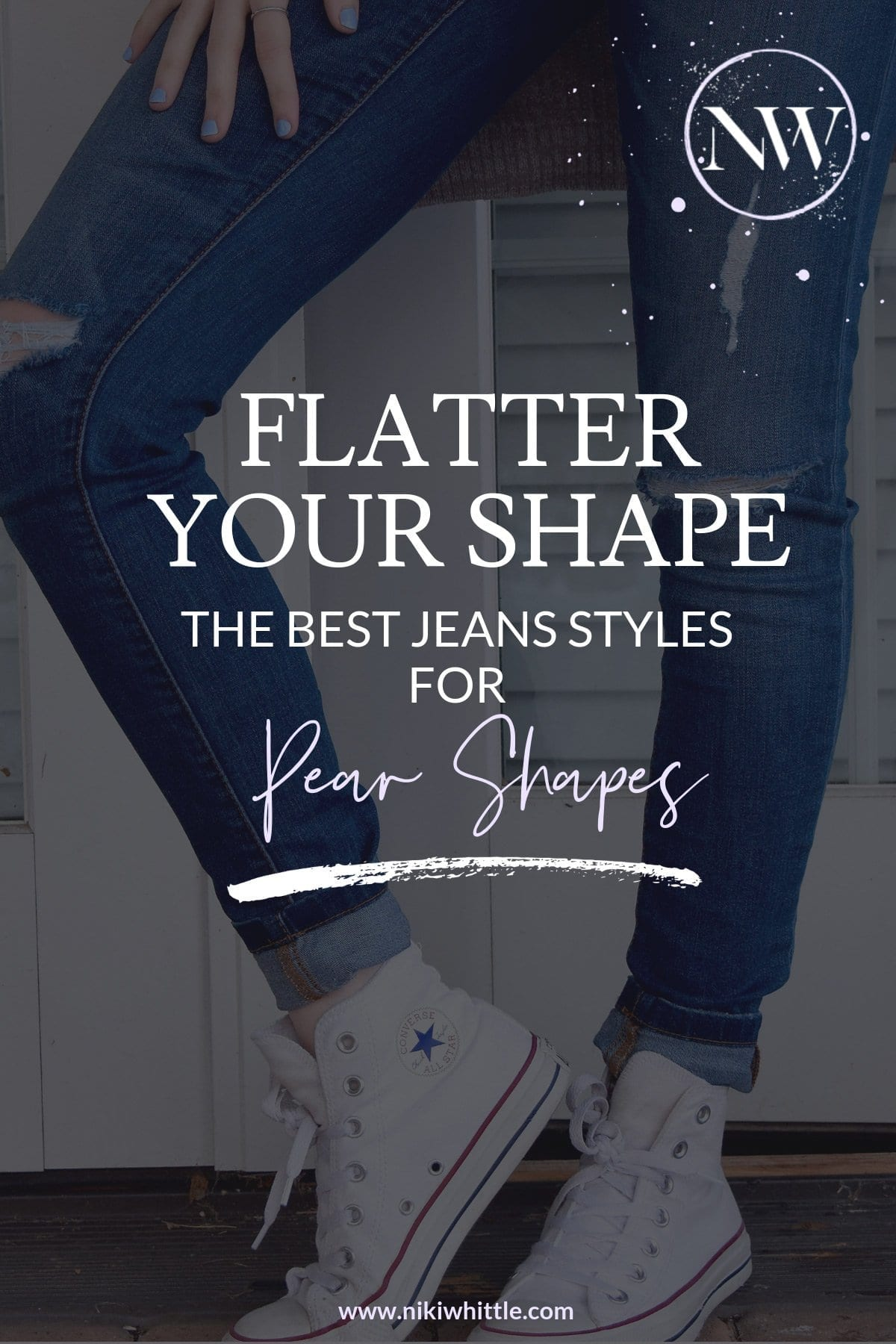 Pear shaped women often struggle to find jeans that fit and flatter well. These styles of jeans will complement the pear-shaped figure the best. Denim for pear shaped body types, jeans for bottom heavy women, the perfect jeans for triangle shaped women. Skinny jeans, flares, Highrise jeans, flares, how to wear, how to style, ways to wear, how to dress your shape